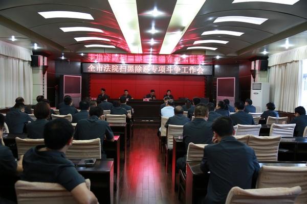 信阳中院召开全市法院扫黑除恶专项斗争工作会